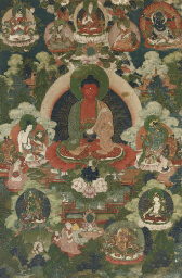 A Tibetan Thangka of Amitayus,
