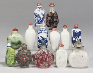Thirteen Chinese snuff bottles