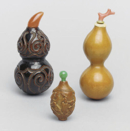 Three Chinese snuff bottles, 1