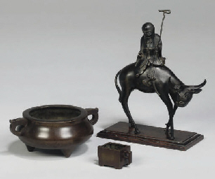 A Chinese bronze censer of Sho