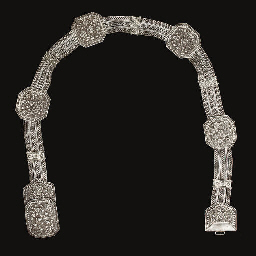 A Straits Chinese silver belt,