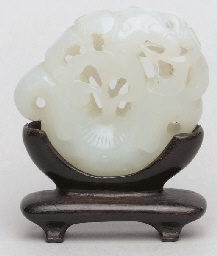 A Chinese white jade carving,