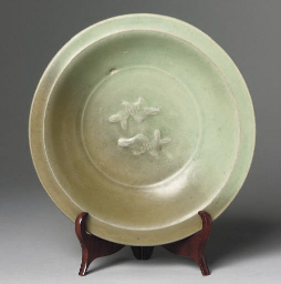 A Chinese celadon glazed twin