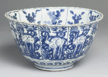 A Chinese blue and white 'kraa