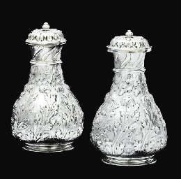 A PAIR OF WILLIAM III SILVER F
