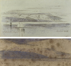 Two views of San Salvador, Cor