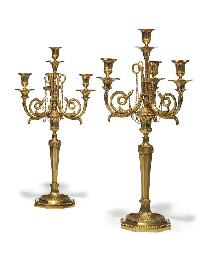 A PAIR OF AUSTRIAN ORMOLU FOUR