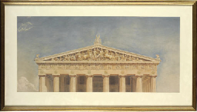 Study of the west pediment of