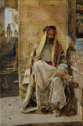 An Arabian Chief, seated in a