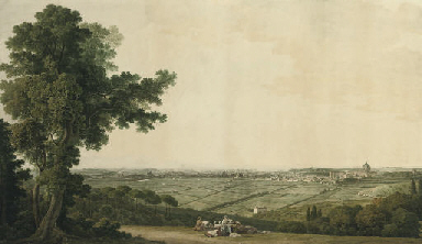 An extensive panorama of Rome