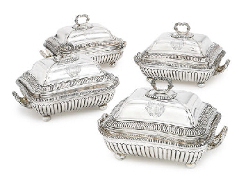 A SET OF THREE GEORGE III SILV