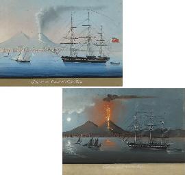 Vesuvius erupting, 4 August 18