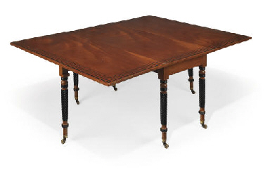 A REGENCY MAHOGANY, EBONISED A