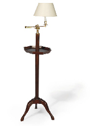 A BRASS-MOUNTED MAHOGANY ADJUS