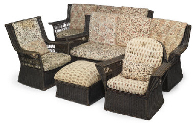 A SUITE OF WICKERWORK FURNITUR