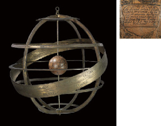 A FRENCH GILT-BRONZE ARMILLARY