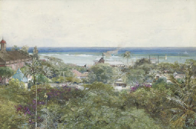 View of the Caribbean