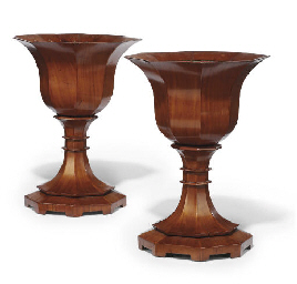 A PAIR OF ITALIAN FRUITWOOD OC