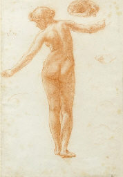 Study of a female nude for 'Th
