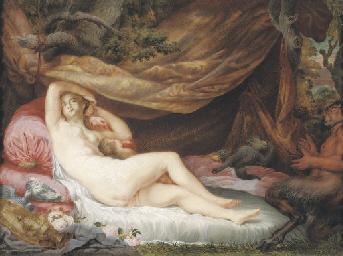 Venus and Cupid asleep