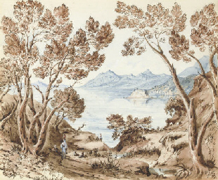 View of Corfu with figures in