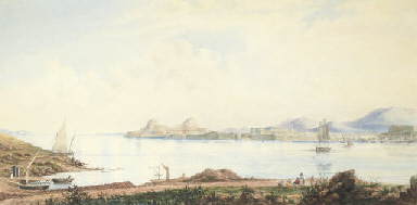 View of Corfu from the Island