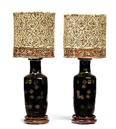 A PAIR OF CHINESE MIRROR BLACK