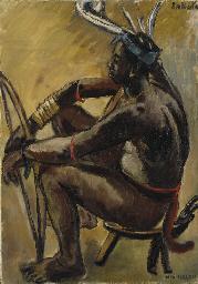 Archer Lobi assis, Gaoua, Haut
