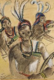 Trois archers Lobi