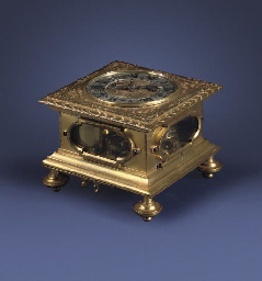 A German gilt-brass and gilt-c