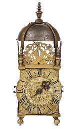 An English brass timepiece lan