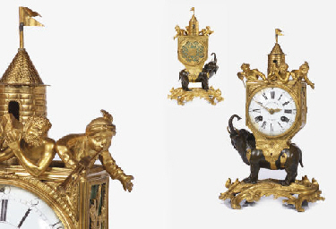 A rare Louis XV ormolu and pat