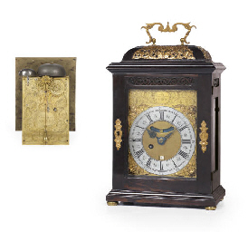 A Queen Anne ebony and brass-m