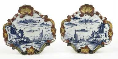 A pair of Dutch Delft mixed te