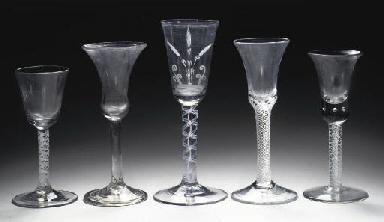 Five Dutch various goblets