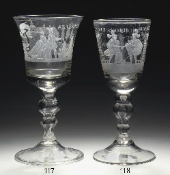 A Dutch-engraved large goblet