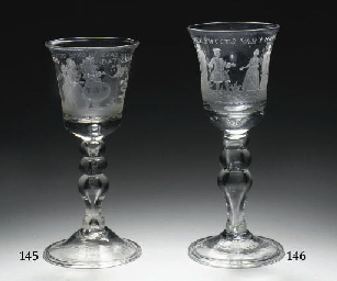A Dutch-engraved goblet