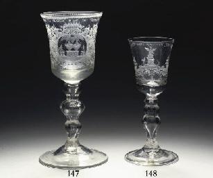 A Dutch-engraved goblet