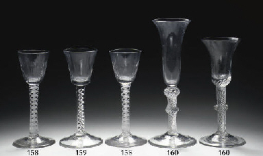 Two English airtwist wine-glas