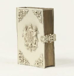 A GERMAN IVORY HYMNBOOK
