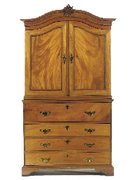 A SWEDISH MAHOGANY SECRETAIRE