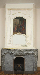 A DUTCH MARBLE CHIMNEY PIECE W