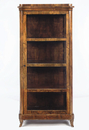 A GERMAN BIEDERMEIER WALNUT DI