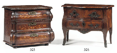 A LOUIS XV ROSEWOOD, TULIPWOOD