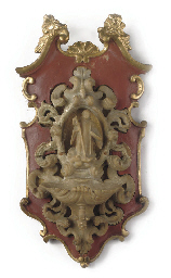 AN ITALIAN CARVED ALABASTER AN