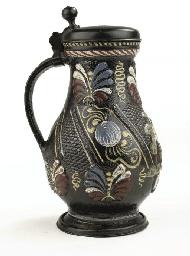 An Annaberg stoneware pewter-m