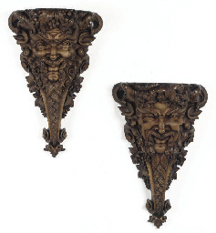 A PAIR OF NORTH EUROPEAN CARVE