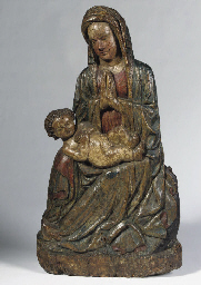 A POLYCHROME AJOURE CARVED LIM