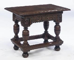 A DUTCH OAK CENTRE TABLE