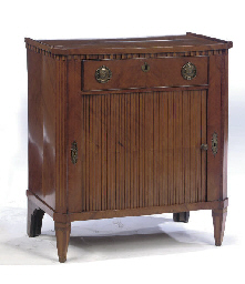 A DUTCH SATINWOOD SIDEBOARD